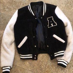 Furry varsity A jacket